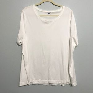 Old Navy Boat Neck Short Sleeve Swing Top - White